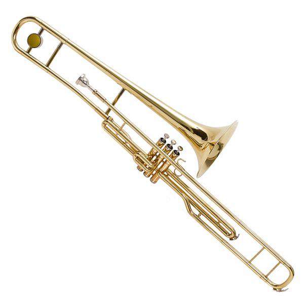 Trombone Pisto Hoyden HTTB25L Laqueado Sib Longo  - Luggi Instrumentos Musicais