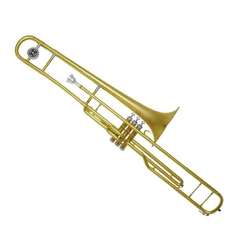 Trombone Pisto Quasar Qsl401L Em Sib Laq.  - Luggi Instrumentos Musicais