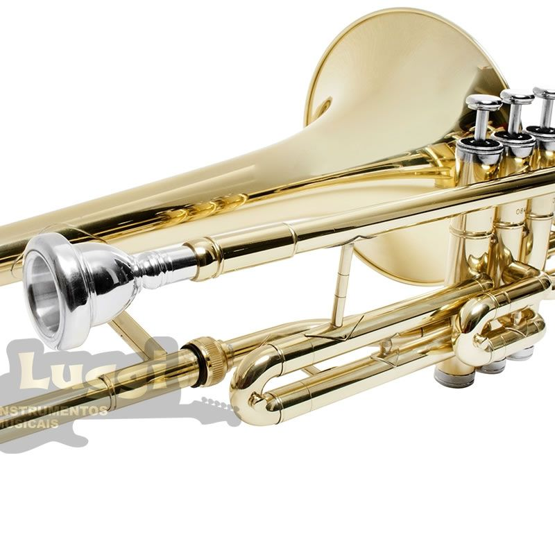 Trombone Pisto Schieffer Sib Laqueado Schtb002  - Luggi Instrumentos Musicais