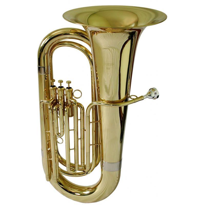 Tuba Hoyden 4/4 3 Pistos Htb25L Laqueada Bb  - Luggi Instrumentos Musicais