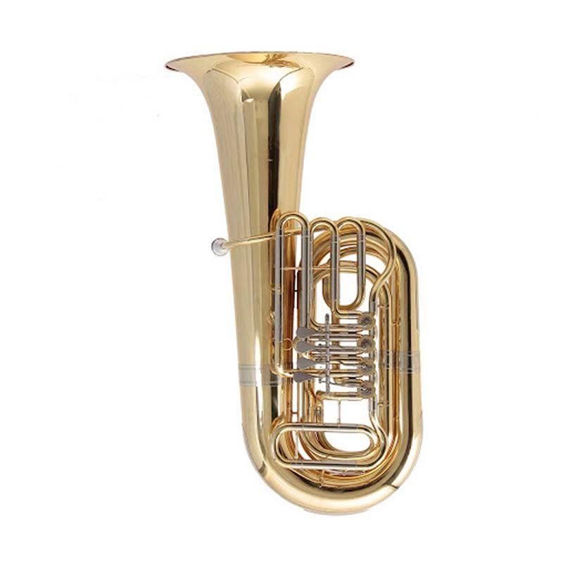 Tuba Schieffer 4/4 Rotor Laqueado Scht19405R4  - Luggi Instrumentos Musicais