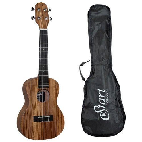 Ukulele Giannini Concert Guk-23Zw Zebrano C/Capa  - Luggi Instrumentos Musicais