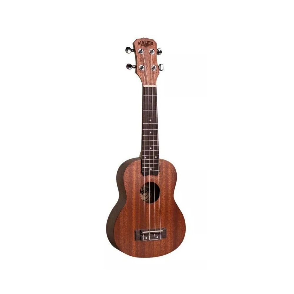 Ukulele Malibu Soprano 21 Sapele Natural C/Capa  - Luggi Instrumentos Musicais