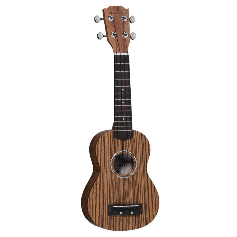 Ukulele Michael Mk21 Zb Zebrano Acústico  - Luggi Instrumentos Musicais