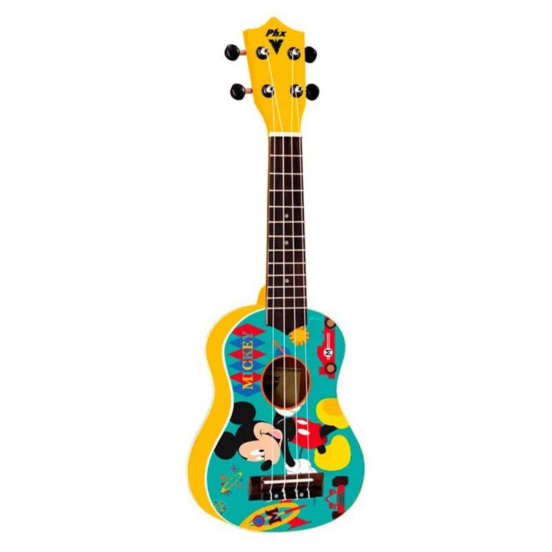 Ukulele Phx Soprano Ukp-Mk1 Mickey Amarelo  - Luggi Instrumentos Musicais
