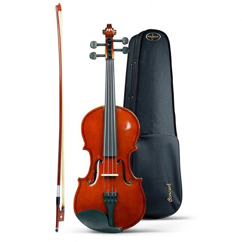 Viola Arco Concert Vc 4/4 Clássica - Com Estojo, Arco e Breu   - Luggi Instrumentos Musicais
