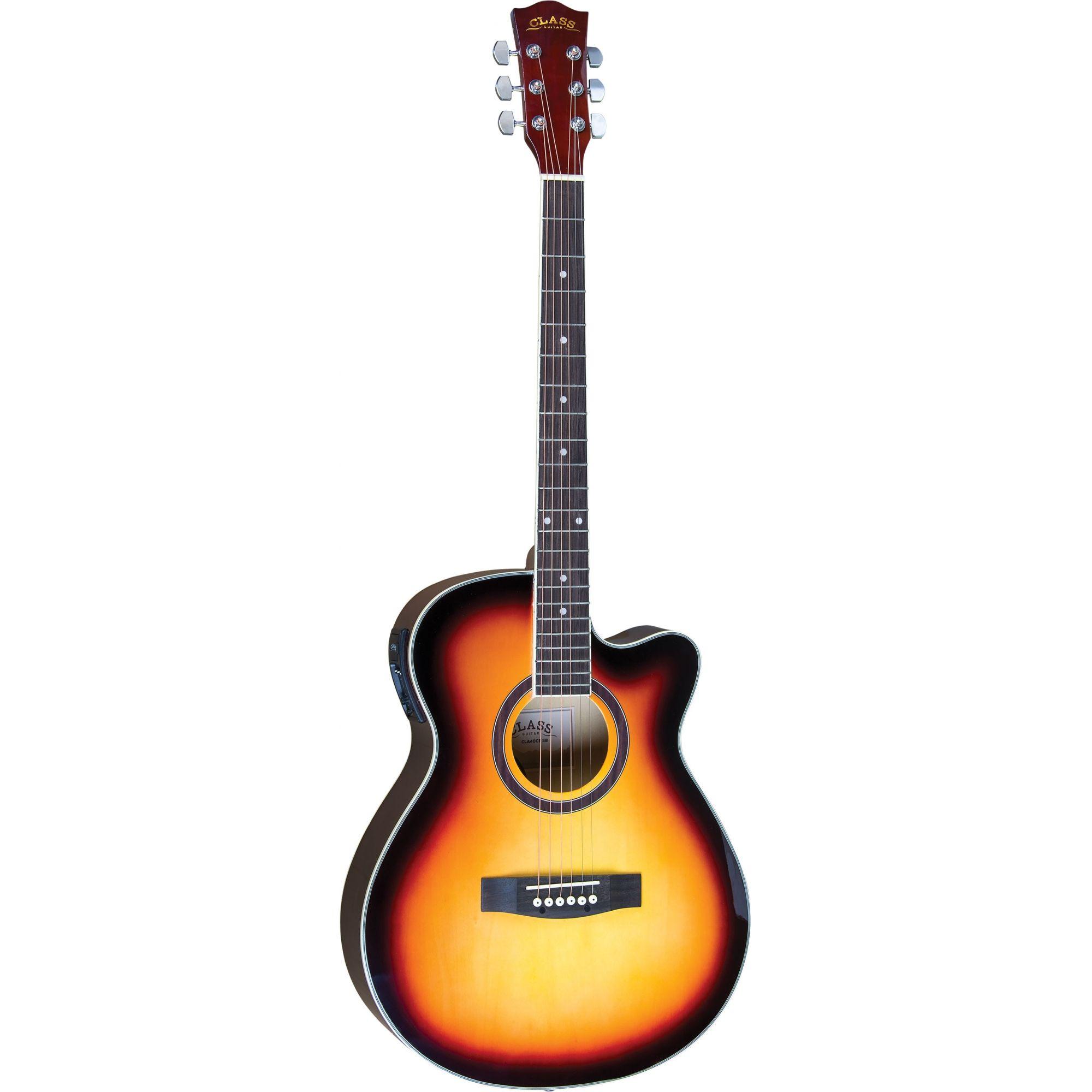 Violão Class Guitar Aço Cla40Ce Sunburst  - Luggi Instrumentos Musicais