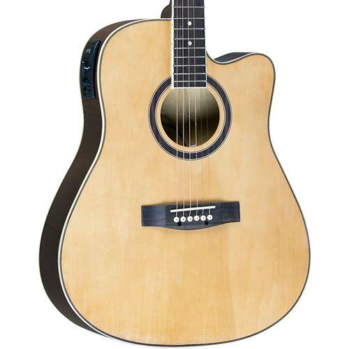 Violão Class Guitar Aço Folk CLD41 Natural  - Luggi Instrumentos Musicais