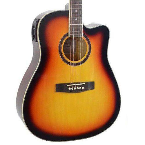 Violão Class Guitar Aço Folk CLD41 Sunburst  - Luggi Instrumentos Musicais