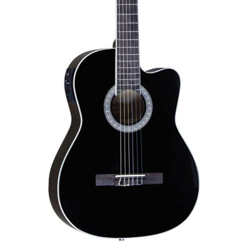 Violão Class Guitar Nylon CLC-39 Preto  - Luggi Instrumentos Musicais
