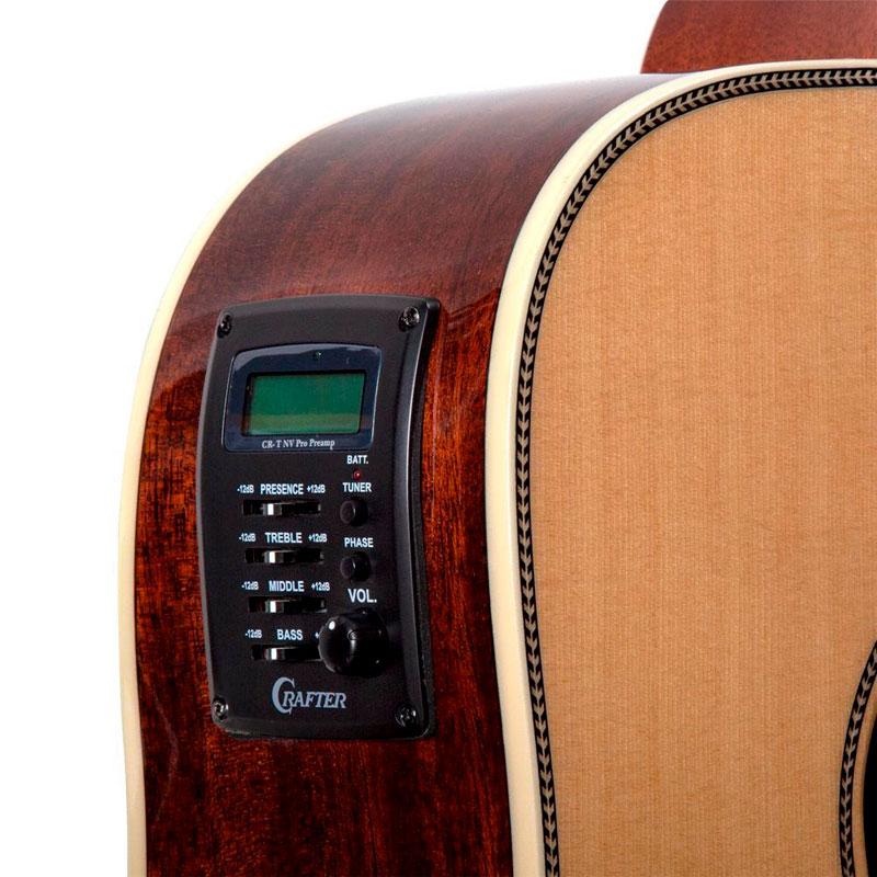 Violão Crafter Rd600 Natural - Folk - Aço - Eletroacústico  - Luggi Instrumentos Musicais