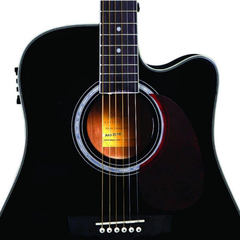 Violão Di Giorgio Genesis Black  - Luggi Instrumentos Musicais