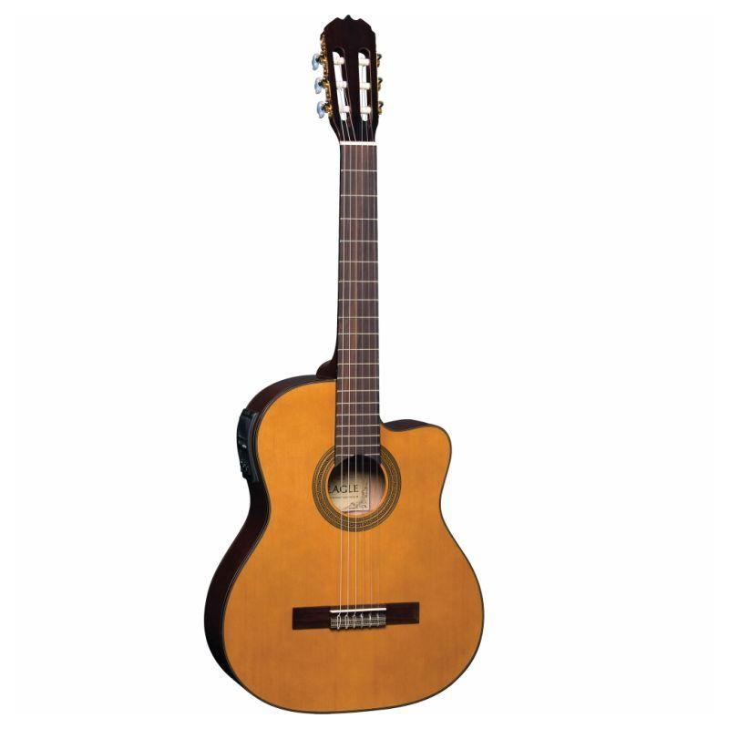 Violão Eagle Ch800 Elétrico Nylon Natural  - Luggi Instrumentos Musicais