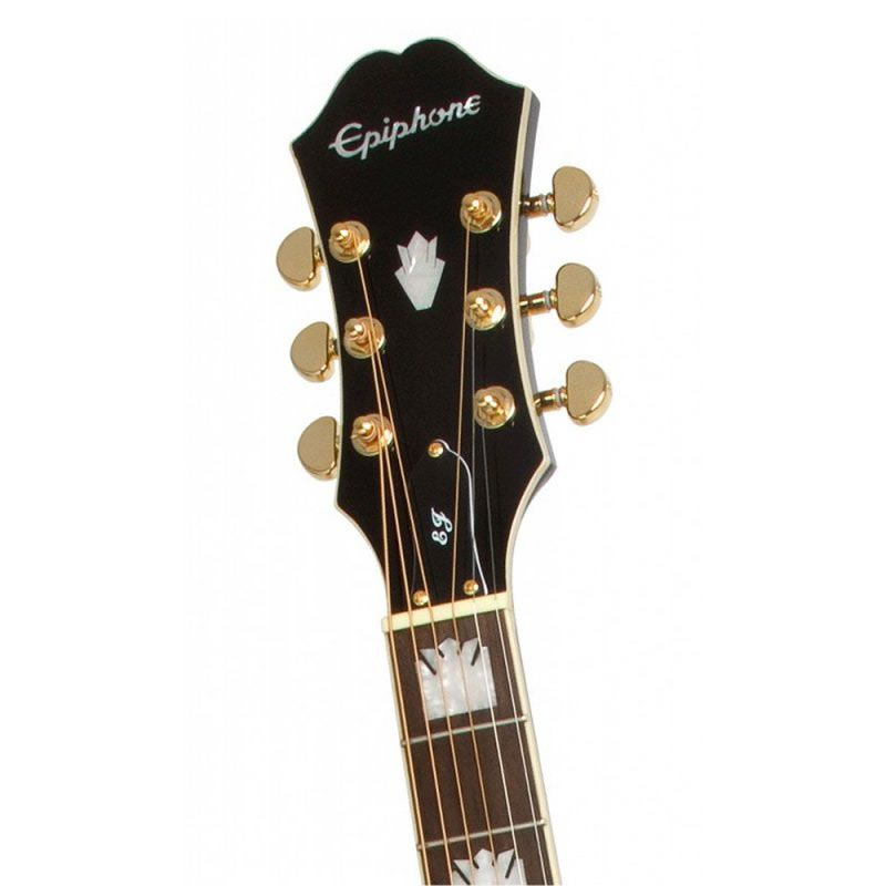 Violão Epiphone Ej-200Ce Gold Preto  - Luggi Instrumentos Musicais