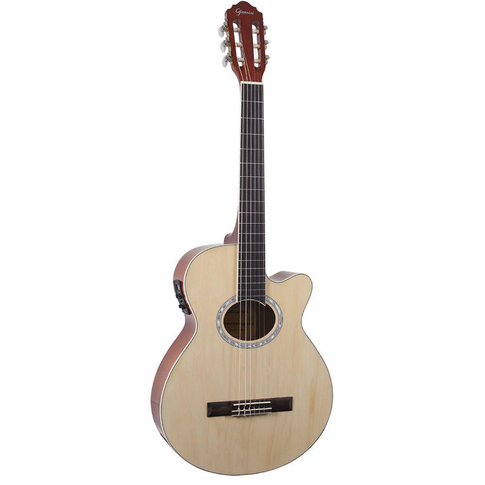 Violão Giannini GNF1R CEQ Nylon Natural  - Luggi Instrumentos Musicais