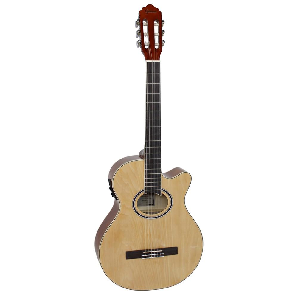 VIOLAO GIANNINI GNF-1D CEQ NATURAL MINI JUMBO NYLON ELETRICO  - Luggi Instrumentos Musicais