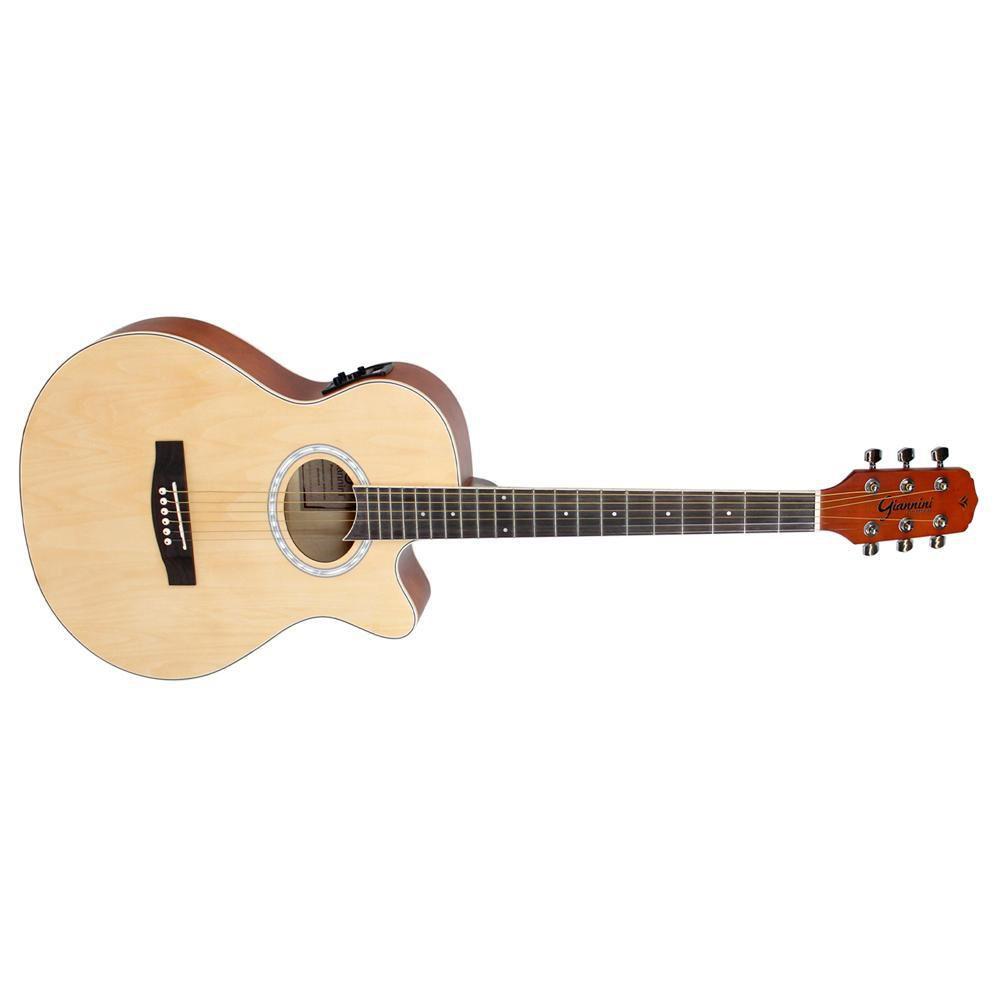 Violao Giannini Gsf-1D Ceq Aço Natural Fosco  - Luggi Instrumentos Musicais