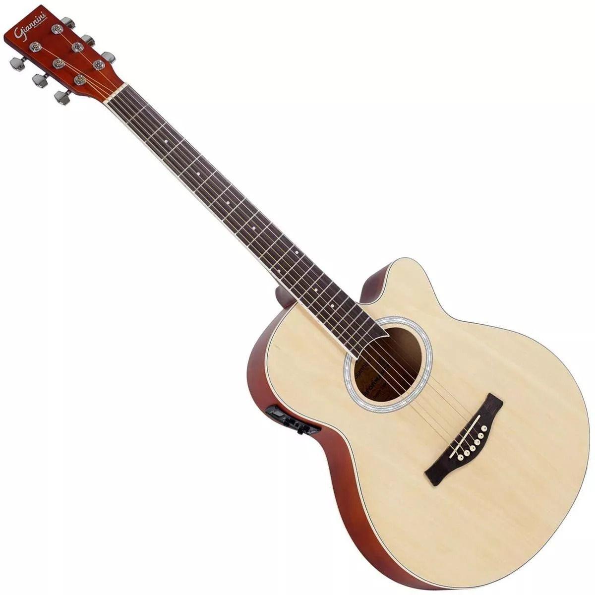 Violao Giannini Gsf-1D Ceqng Aço Natural  - Luggi Instrumentos Musicais