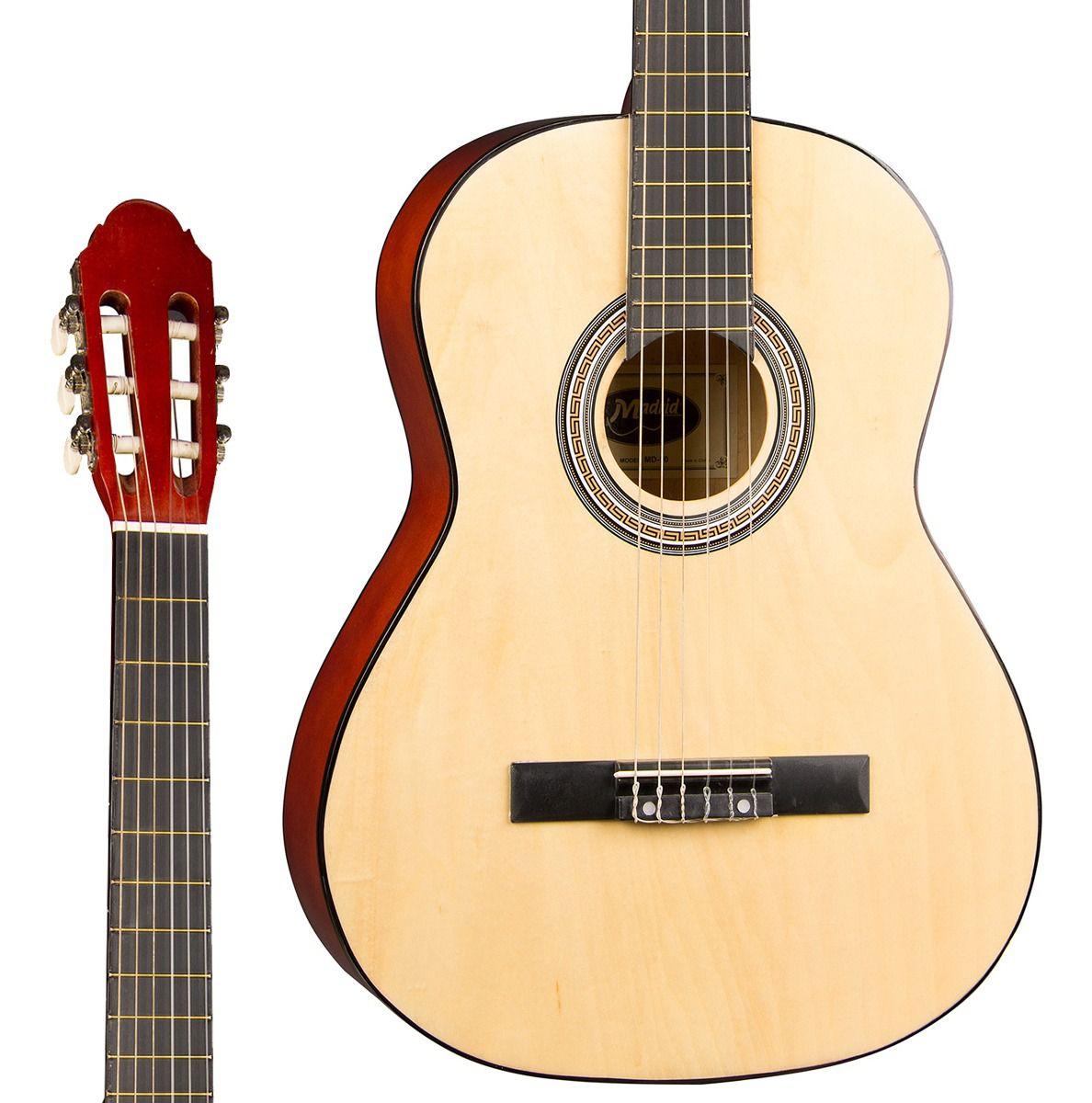 Violao Madrid Md90 Natural  - Luggi Instrumentos Musicais