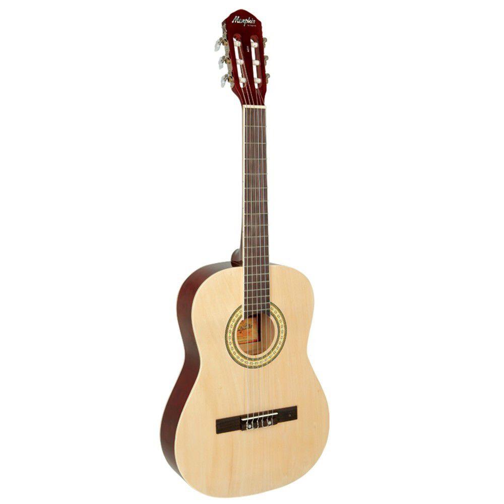 Violão Memphis Ac34 Nylon Natural  - Luggi Instrumentos Musicais