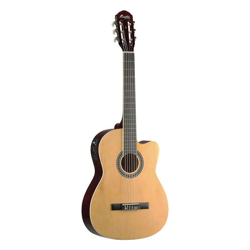Violão Memphis Ac60 Elétrico Nylon Natural  - Luggi Instrumentos Musicais