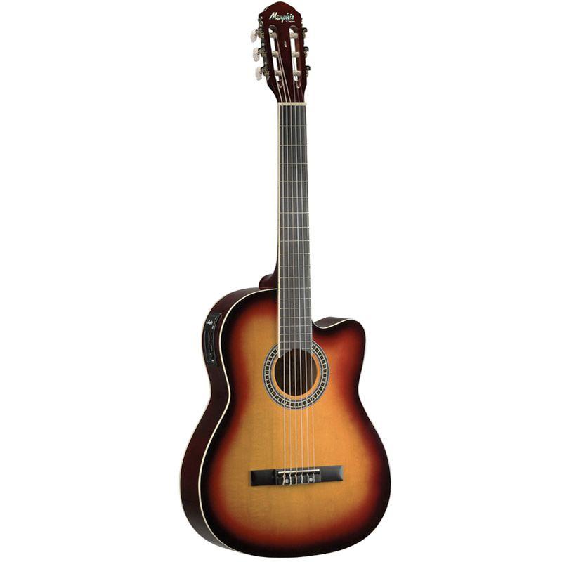 Violão Memphis Ac60 Nylon Elétrico Sunburst  - Luggi Instrumentos Musicais