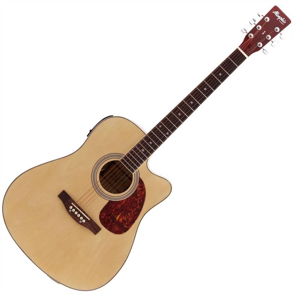 Violão Memphis Md18 Folk Aço Natural  - Luggi Instrumentos Musicais