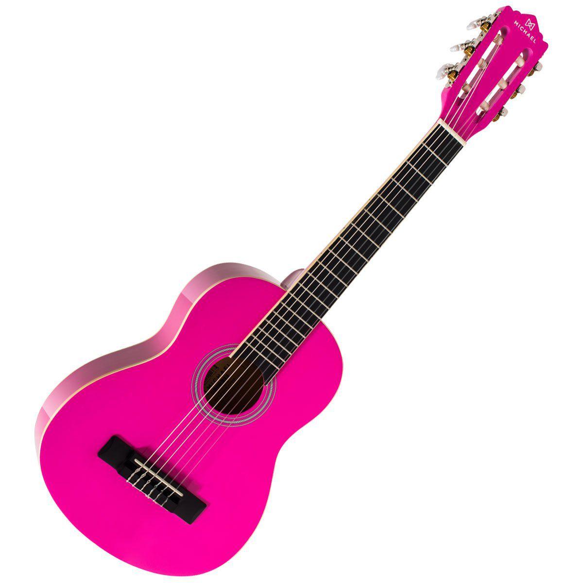 Violao Michael 1/2 Vm09E Pink  - Luggi Instrumentos Musicais