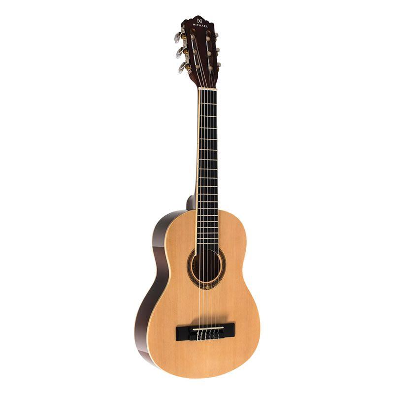 Violão Michael Vm10E 1/4 Nylon Acústico Natural  - Luggi Instrumentos Musicais