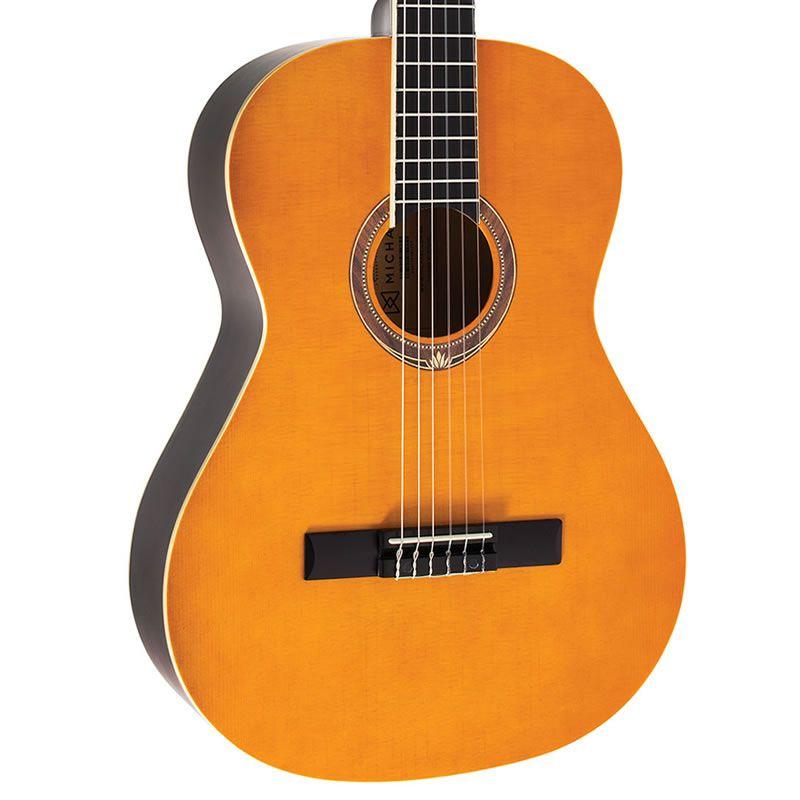 Violão Michael Vm19E Nylon C/Capa Acústico Natural  - Luggi Instrumentos Musicais