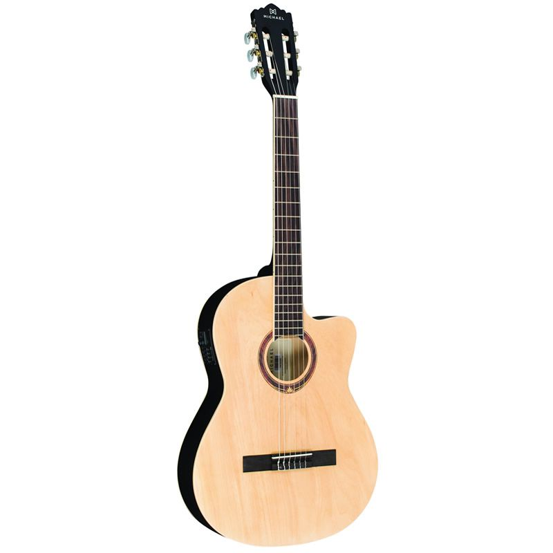 Violao Michael Vm225 Semi Flat Natural Satin  - Luggi Instrumentos Musicais