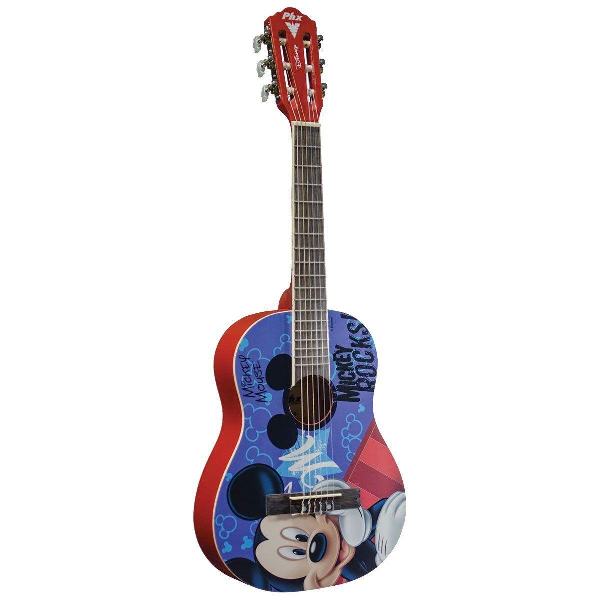 Violao Phx Mickey Rocks Disney Vid-Mr1  - Luggi Instrumentos Musicais