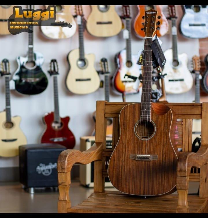 Violão Redburn Rb-300 Walnut - Folk - Aço  - Luggi Instrumentos Musicais