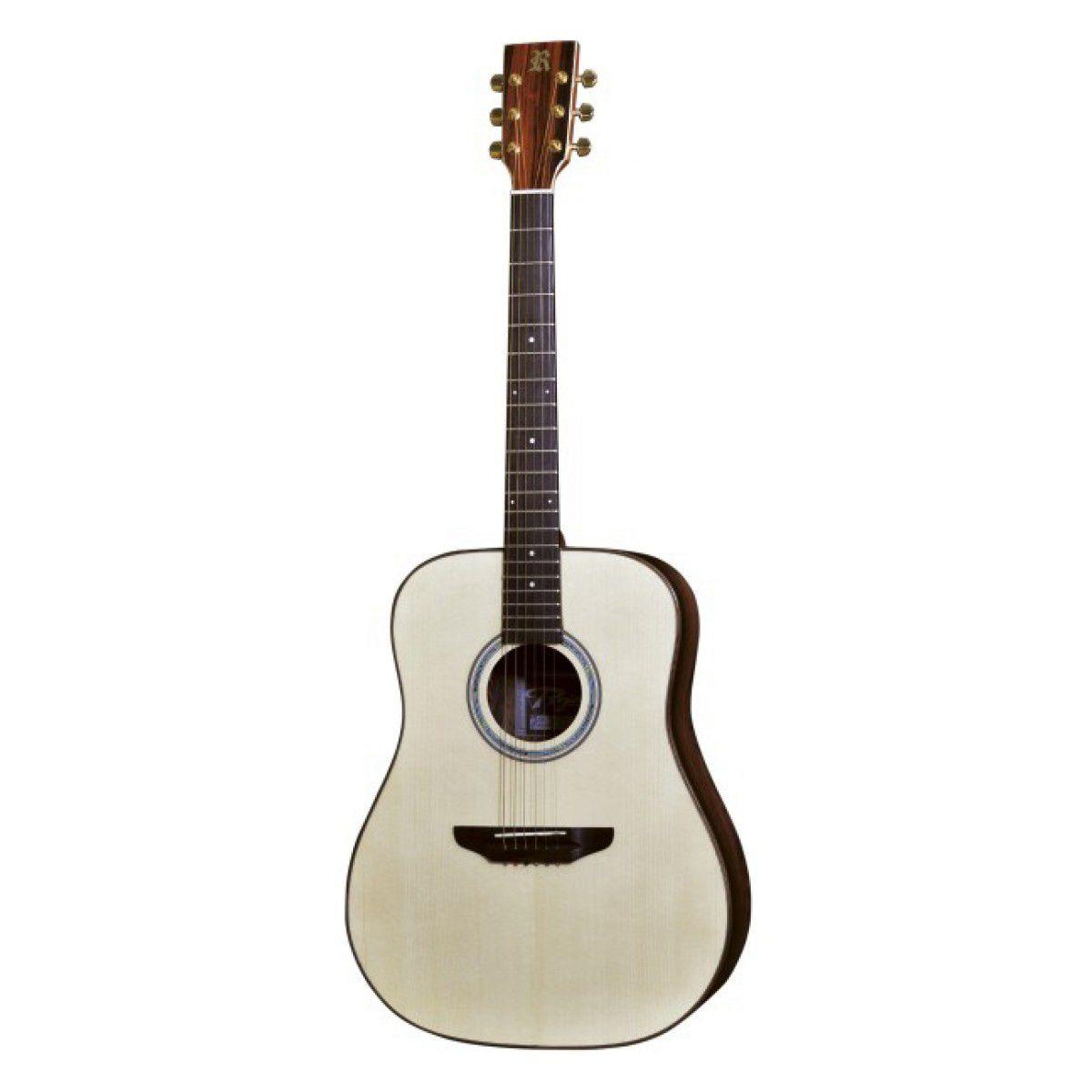 Violão Rozini Rx320Atn Folk Aço Natural Elétrico  - Luggi Instrumentos Musicais