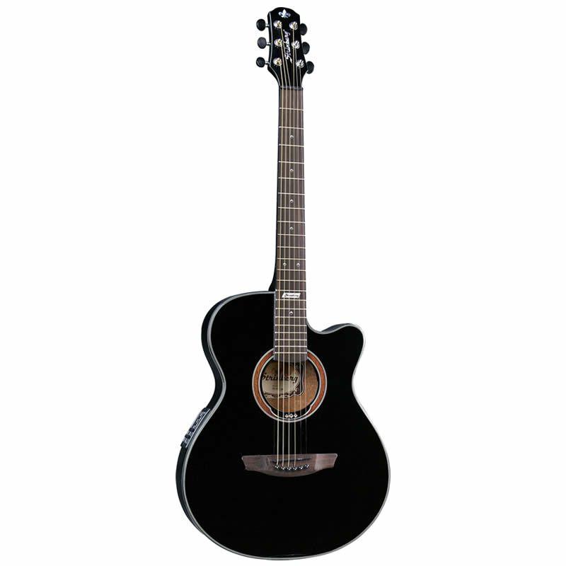 Violão Strinberg As55C Flat Preto  - Luggi Instrumentos Musicais