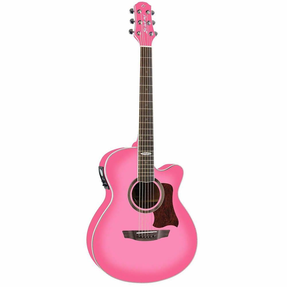 Violão Strinberg Sa20C Aço Pink  - Luggi Instrumentos Musicais