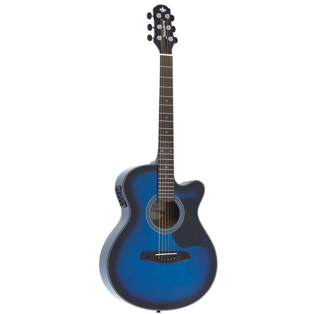 Violão Strinberg Sa25C Aço Azul  - Luggi Instrumentos Musicais
