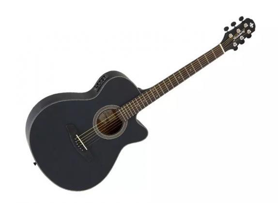 Violao Strinberg Sa25C Aço Preto  - Luggi Instrumentos Musicais