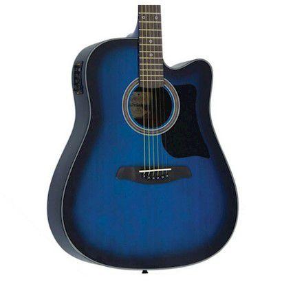Violao Strinberg Sd25C Folk Azul  - Luggi Instrumentos Musicais
