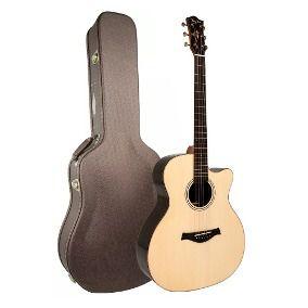 Violão Tagima Cf-1000 Equalizer Serie Café c/ Case/ Natural - Jumbo  - Luggi Instrumentos Musicais
