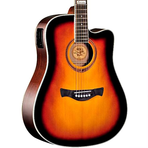 Violão Tagima Kansas Sunburst - Folk - Aço  - Luggi Instrumentos Musicais