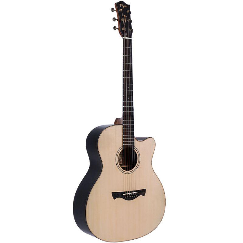 Violão Tagima Cf-1000 Natural - Jumbo - Aço  - Luggi Instrumentos Musicais