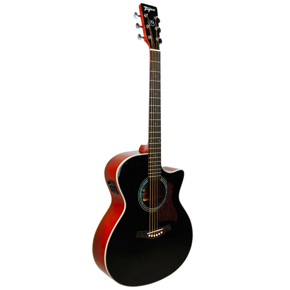 Violao Tagima Tw29 Woodstock Preto  - Luggi Instrumentos Musicais