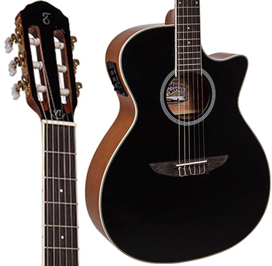Violão Tagima Tw27 Preto - Jumbo - Nylon  - Luggi Instrumentos Musicais