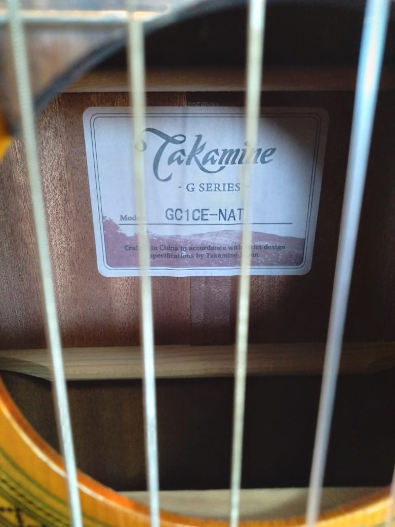 Violao Takamine Gc1Ce Natural Nylon  - Luggi Instrumentos Musicais