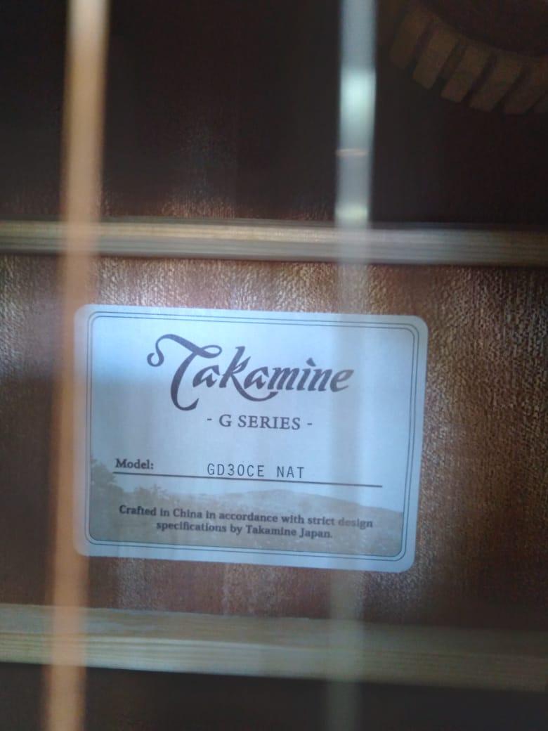 Violão Takamine Gd30Ce Natural - Folk - Aço  - Luggi Instrumentos Musicais