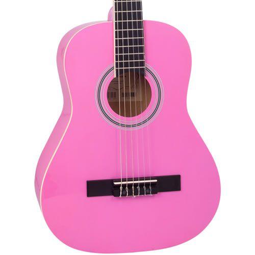 """Violão Vogga Infantil Vca95 Rosa 36""""  - Luggi Instrumentos Musicais"""