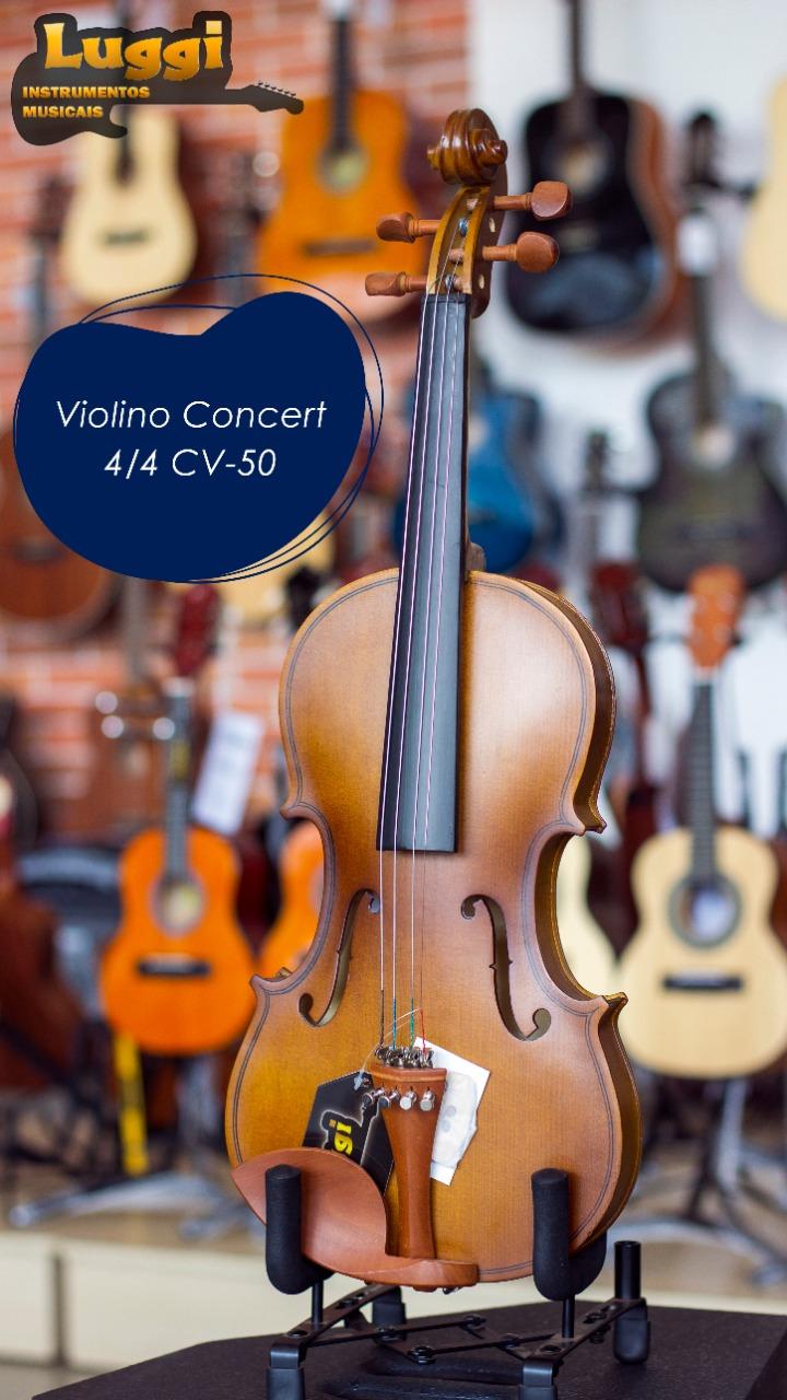 VIOLINO 4/4 CONCERT CV50  - Luggi Instrumentos Musicais