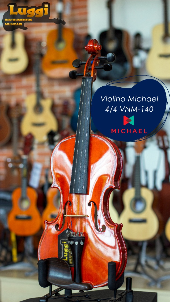 Violino 4/4 Michael Vnm140  - Luggi Instrumentos Musicais
