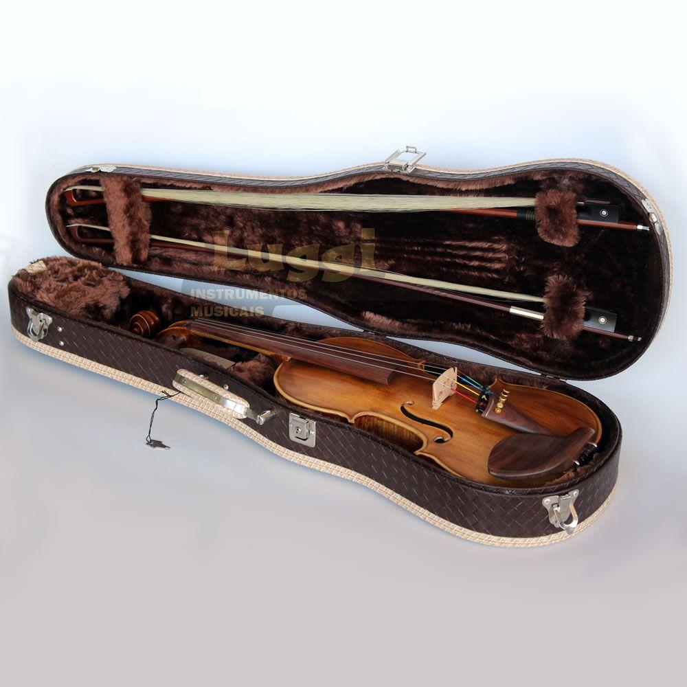Violino 4/4 Nhureson Alegretto Tampo Abeto  - Luggi Instrumentos Musicais
